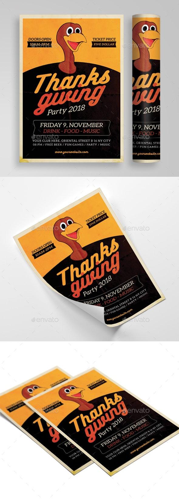 Thanksgiving - Flyers Print Templates