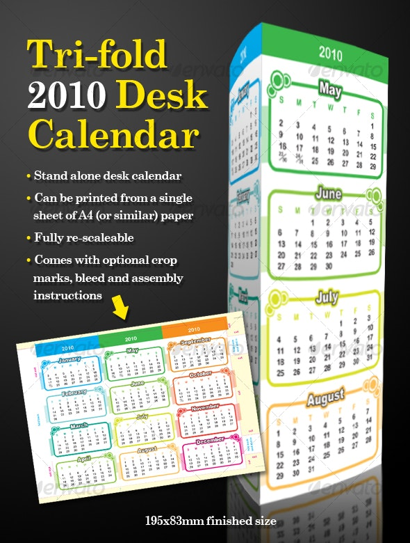 2010 Desktop Calendar - New Year Seasons/Holidays