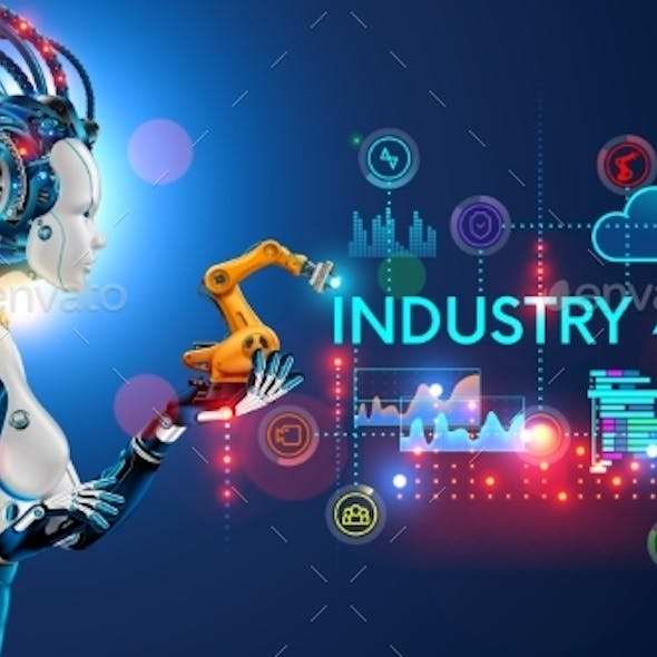 Concept Industry 4.0 Artificial Intelligence
