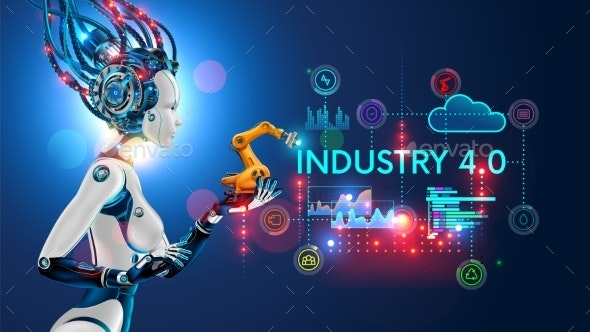 Concept Industry 4.0 Artificial Intelligence - Computers Technology