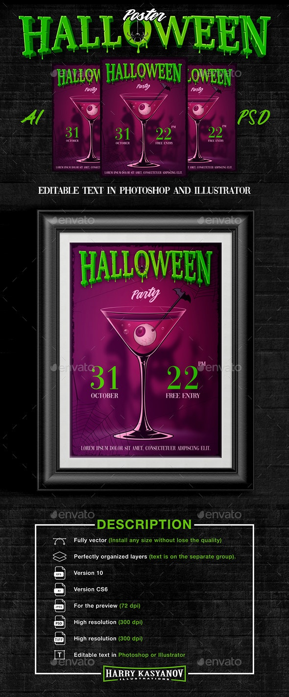 Halloween Party Poster - Events Flyers
