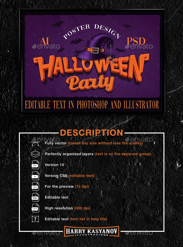 Halloween Poster Design - Events Flyers
