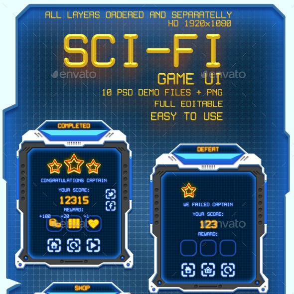 Sci-fi Game UI Pack
