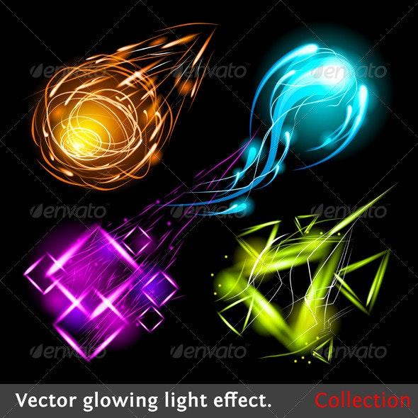 Vector light symbols - Abstract Conceptual
