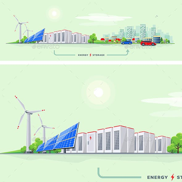 Electric Power Station and Battery Storage System