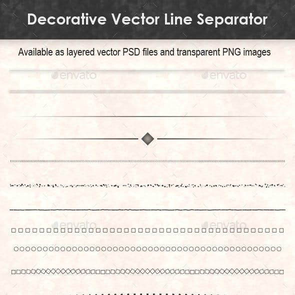 Decorative Vector Line Separator