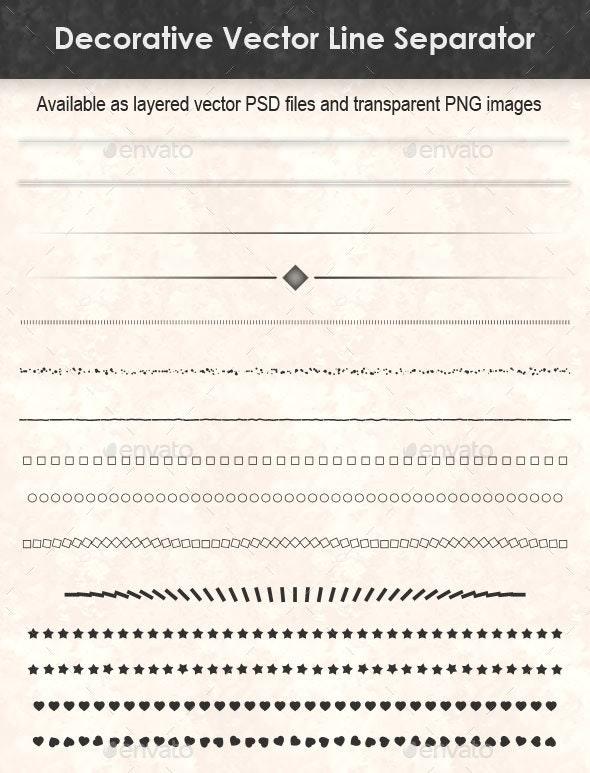 Decorative Vector Line Separator - Decorative Graphics