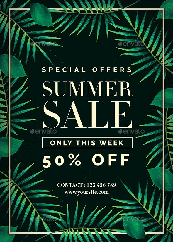 Summer Sale Flyer - Commerce Flyers