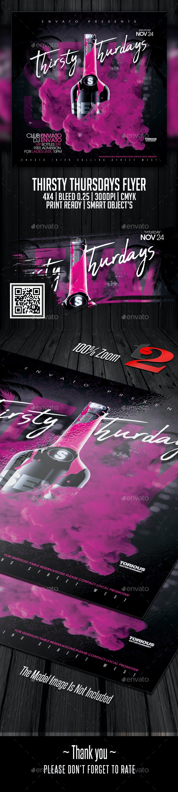 Thirsty Thursdays Flyer Template - Clubs & Parties Events