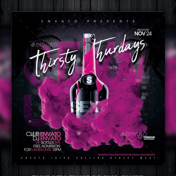 Thirsty Thursdays Flyer Template