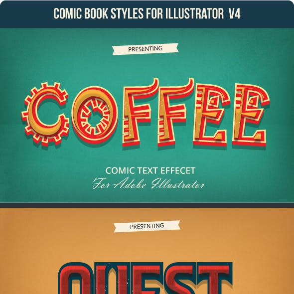 Game & Comic Text Effect for Adobe Illustrator