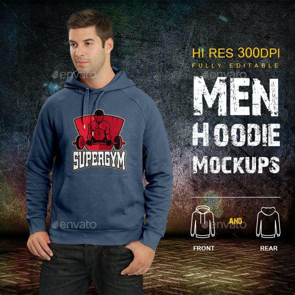 Men Hoodie Mockups
