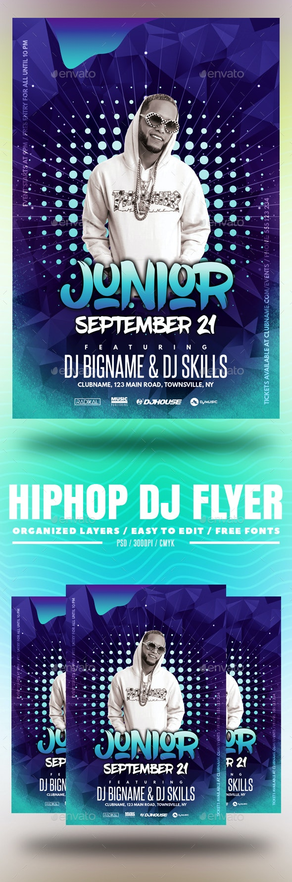 Hiphop DJ Flyer - Clubs & Parties Events