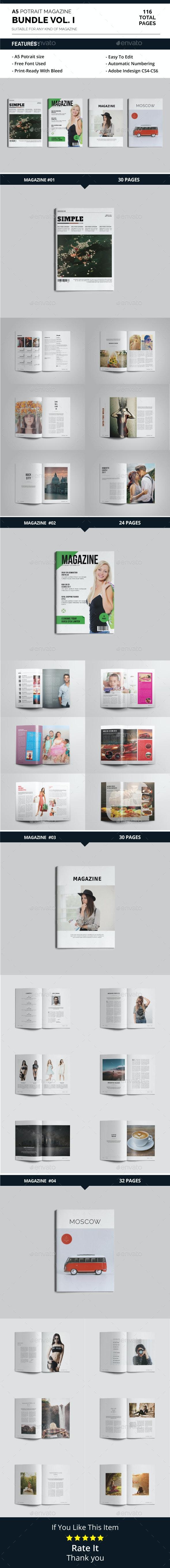 A5 Magazine Bundle Vol. I - Magazines Print Templates