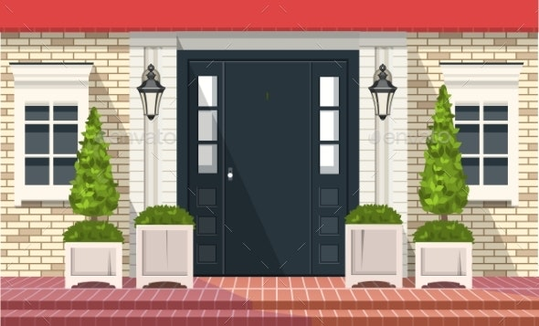 Front Entrance Doors - Buildings Objects