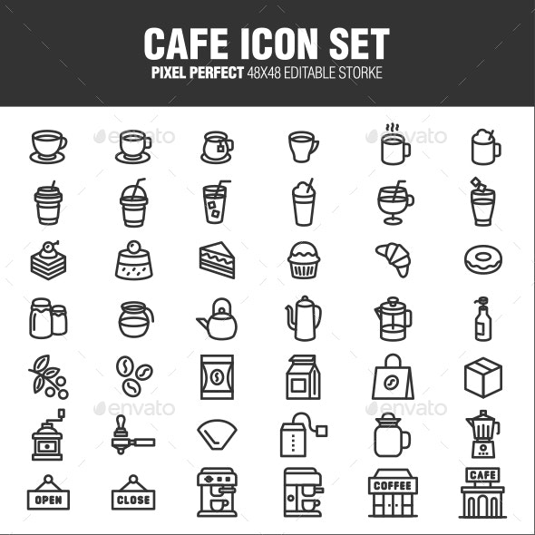CAFE ICON SET - Business Icons
