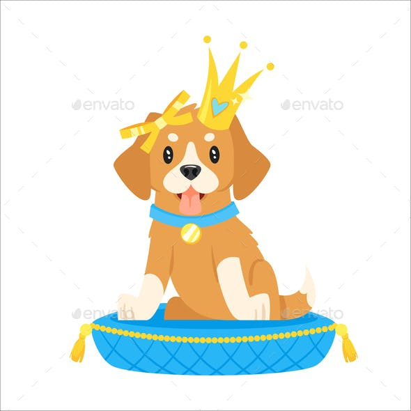 Dog in Crown