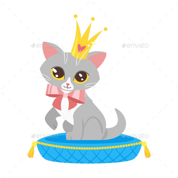 Cat in Crown - Animals Characters