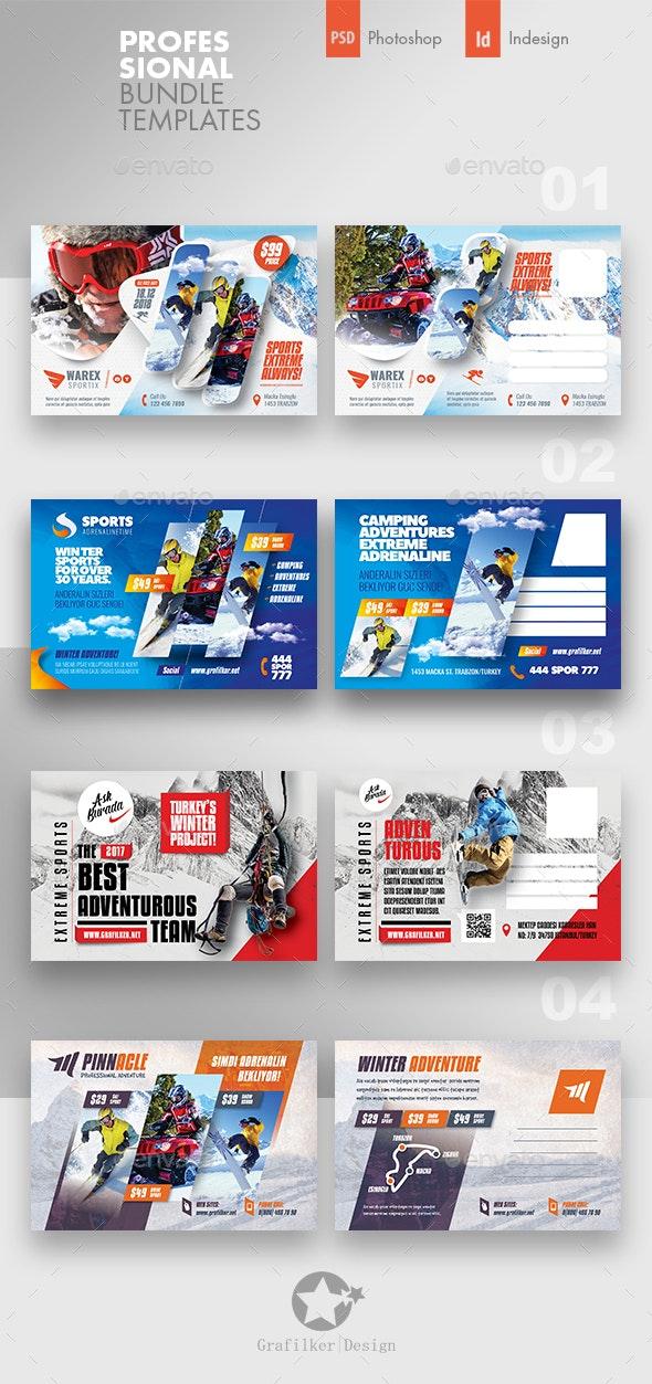Adventure Postcard Bundle Templates - Cards & Invites Print Templates