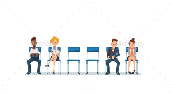 Job Interview and Recruiting - People Characters