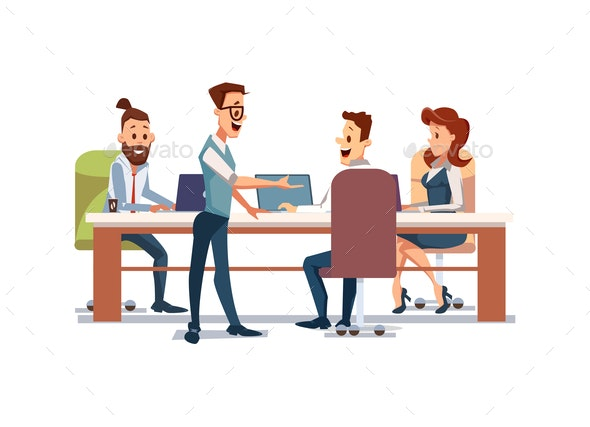 People Work in Office - People Characters