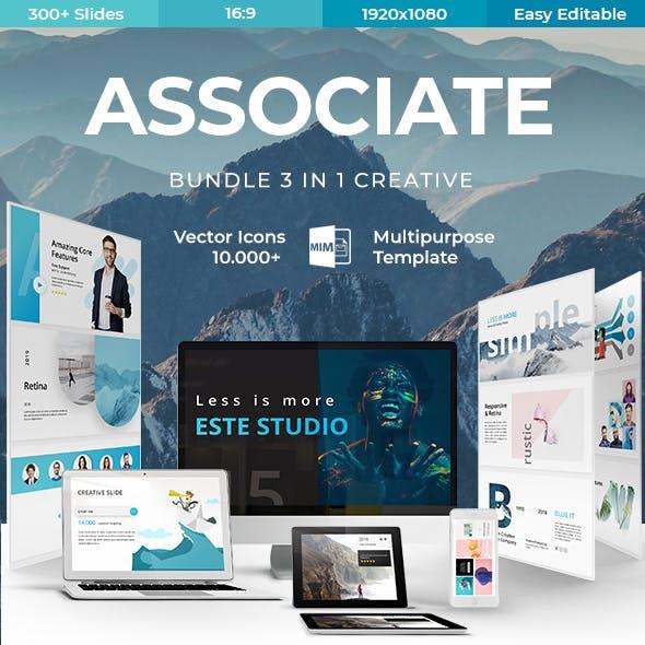 Associate 3 in 1 - Bundle Creative Keynote Template