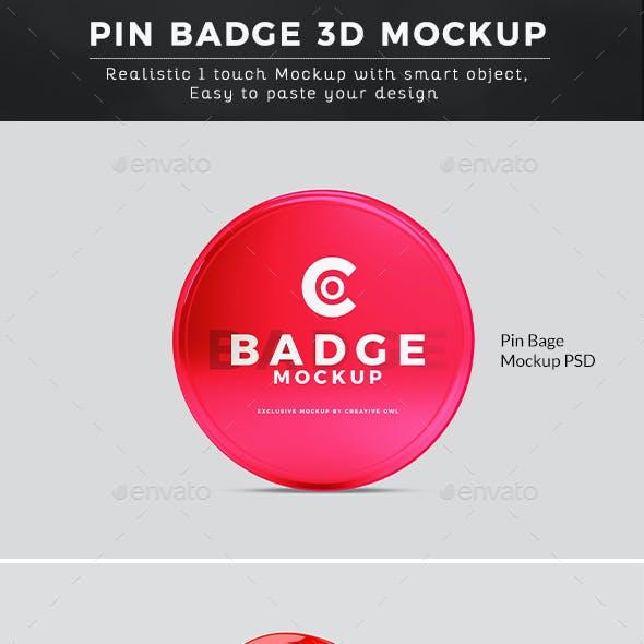High Quality Pin Badge Mockup