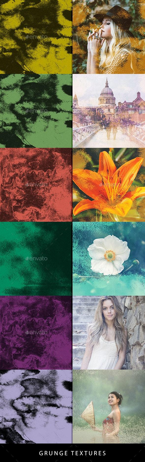 Color Grungue Textures - Backgrounds Graphics