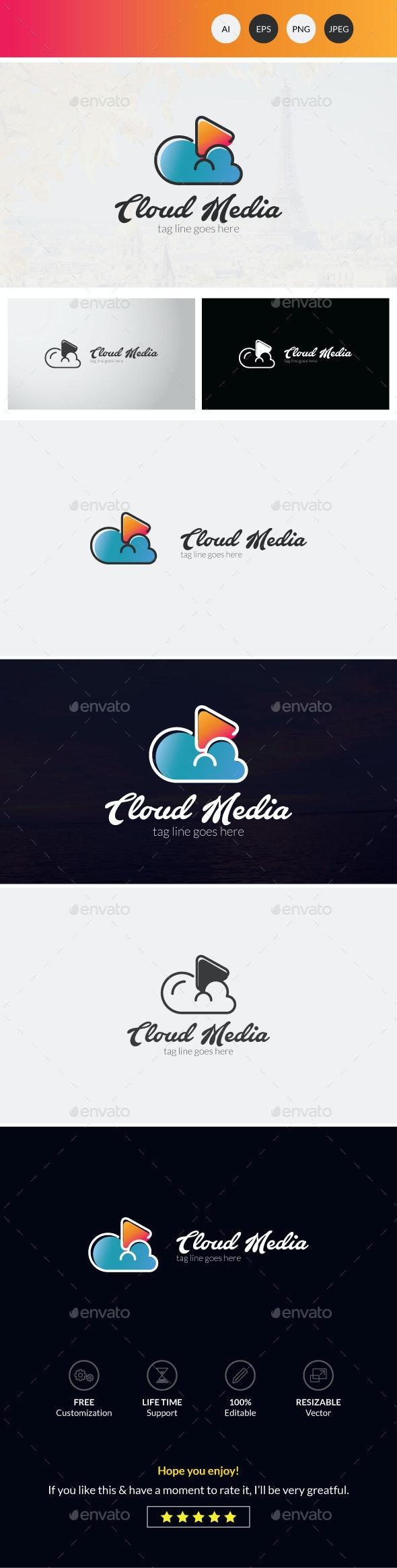 Cloud Media Logo Template