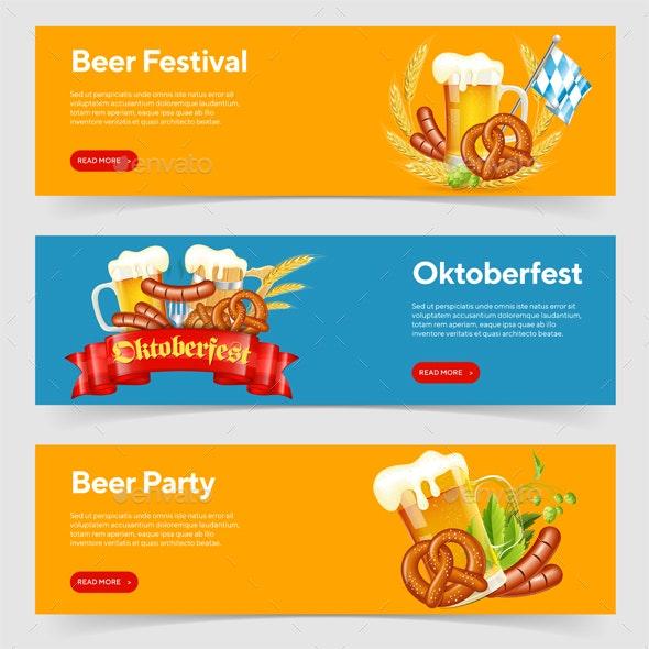 Oktoberfest Beer Festival Banners - Miscellaneous Seasons/Holidays