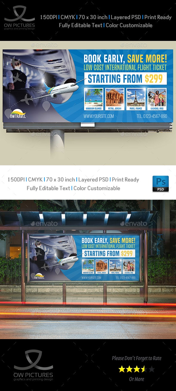 Travel Company Billboard Template Vol.2 - Signage Print Templates