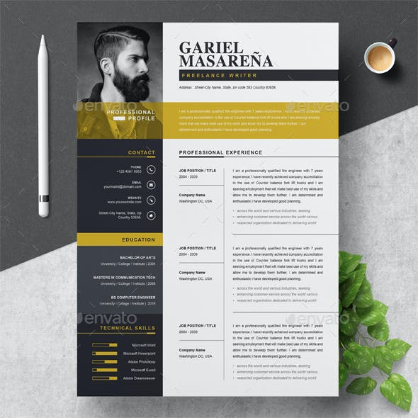 2020's Best Selling Resume Templates