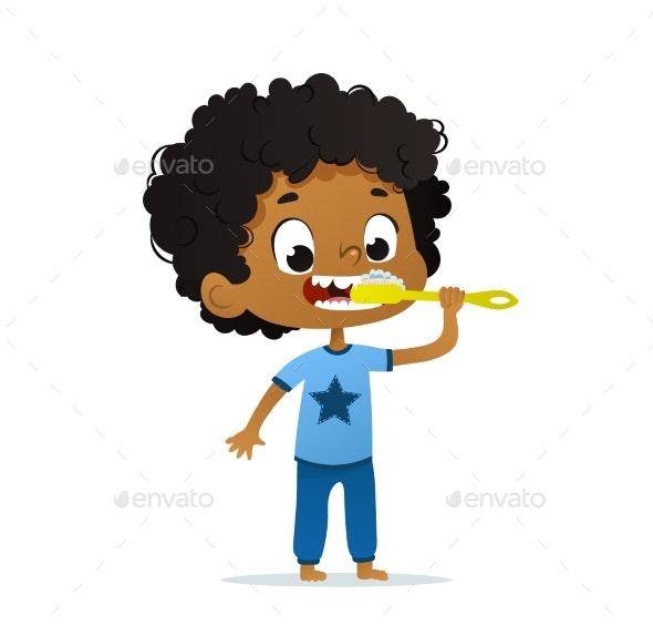 Vector Illustration of Kindergarten Kid - People Characters