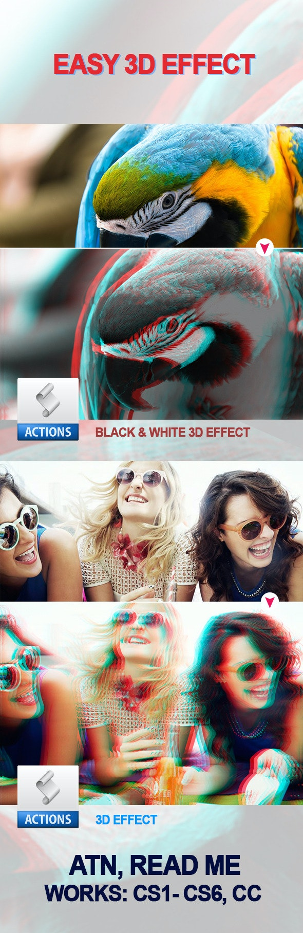 Easy 3D Effect - Photo Effects Actions