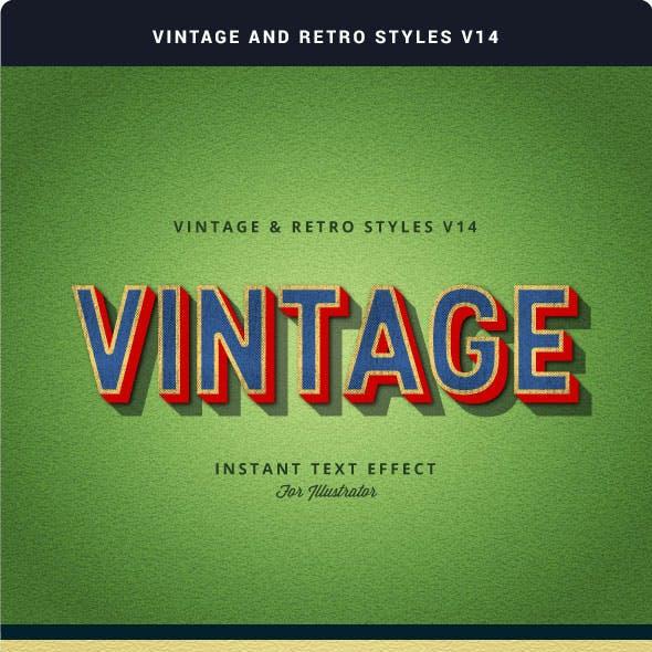 Vintage and Retro Styles V14