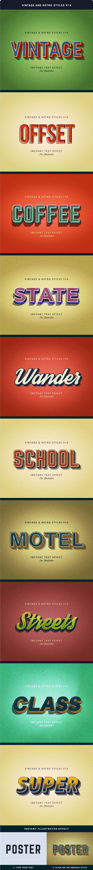 Vintage and Retro Styles V14 - Styles Illustrator