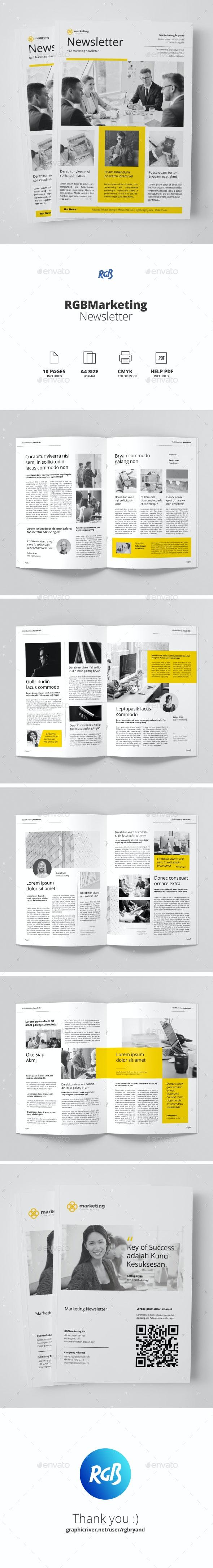Marketing Newsletter - Newsletters Print Templates