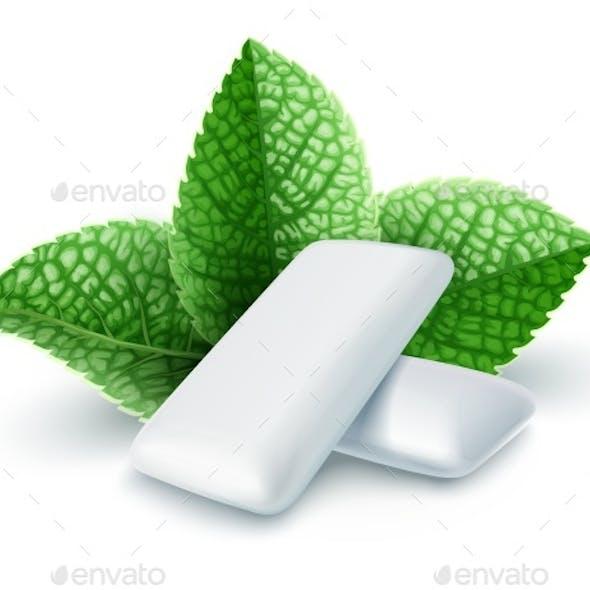 Pads of Bubble Gum with Mint Flavour