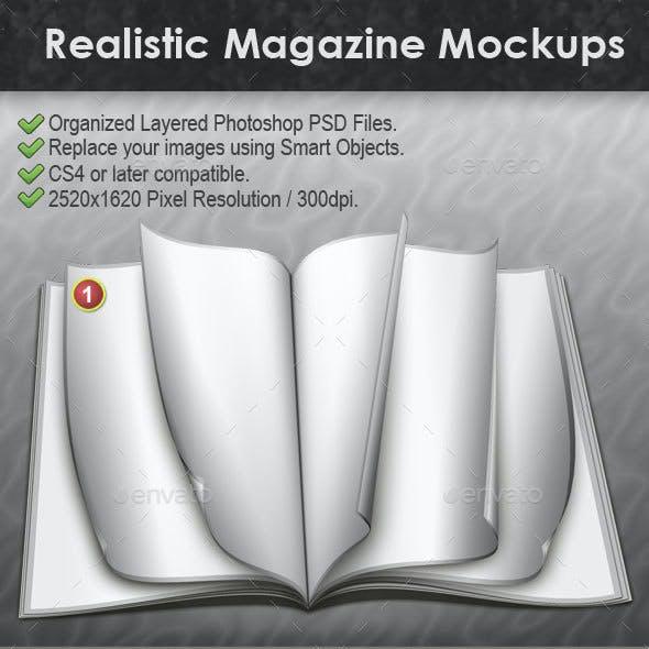 Realistic Magazine Mockups
