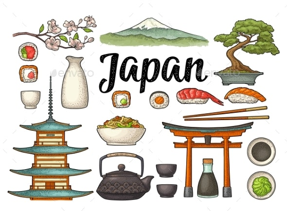 Set for Japan - Food Objects