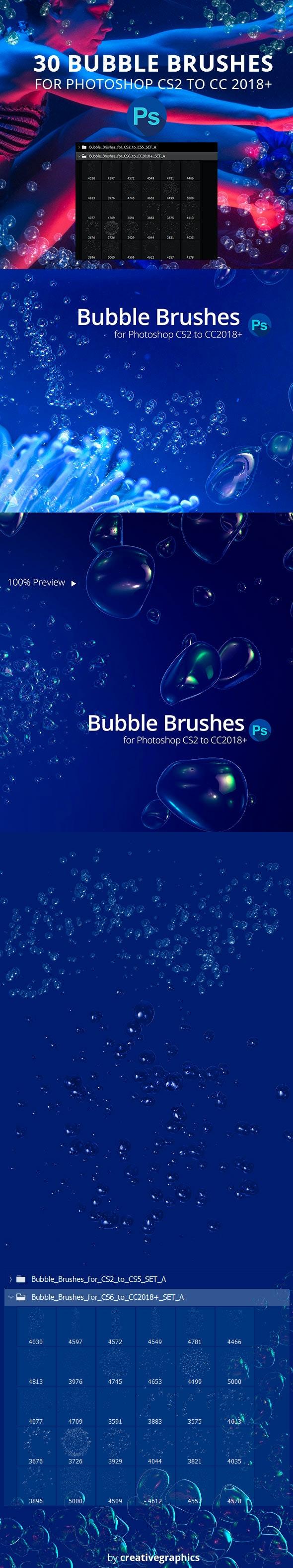 30 Bubble Brushes for Photoshop - Brushes Photoshop