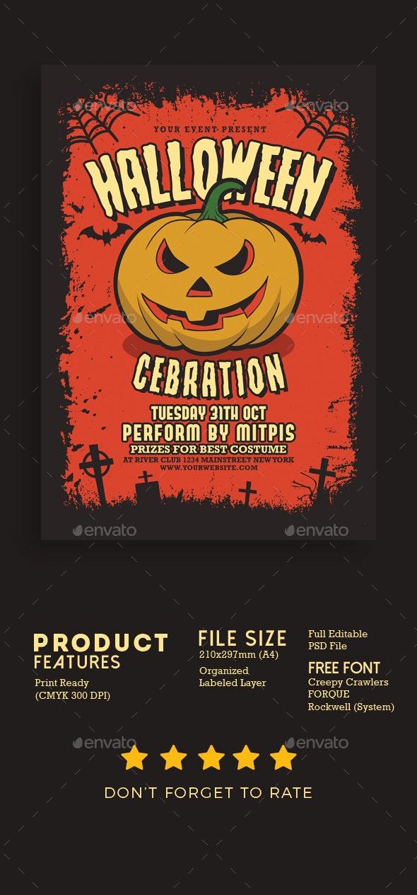 Halloween Party Celebration - Events Flyers