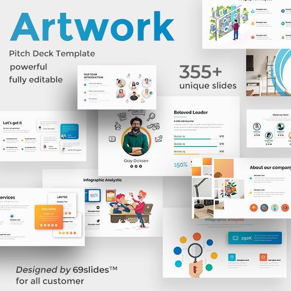 Business Artwork Pitch Deck Powerpoint Template