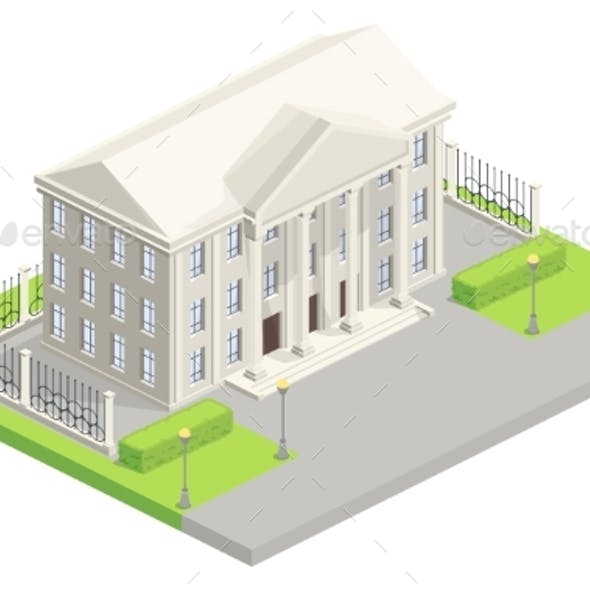 City Hall Parliament Isometric Vector Illustration