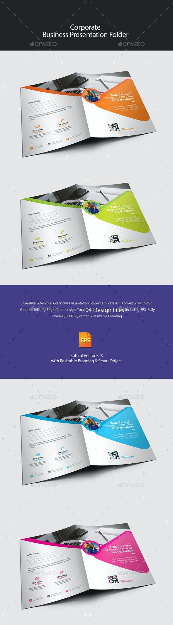 Corporate Presentation Folder - Stationery Print Templates