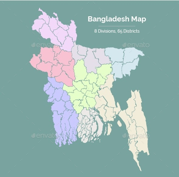 Bangladesh Map - Miscellaneous Conceptual