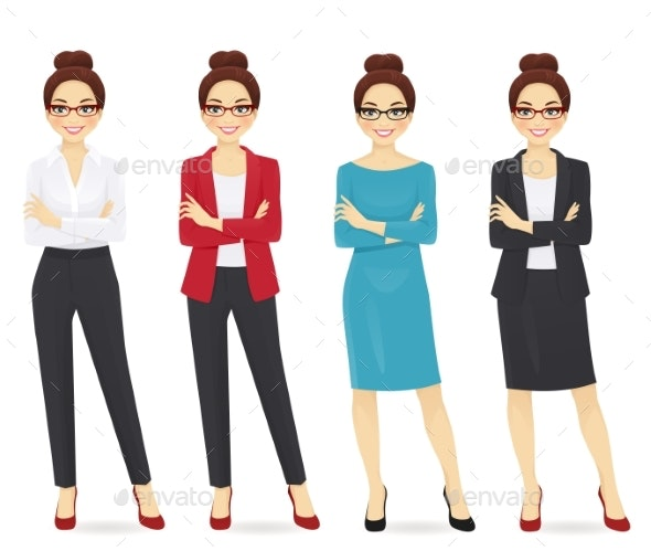 Set of Wman in Different Clothes - Miscellaneous Vectors