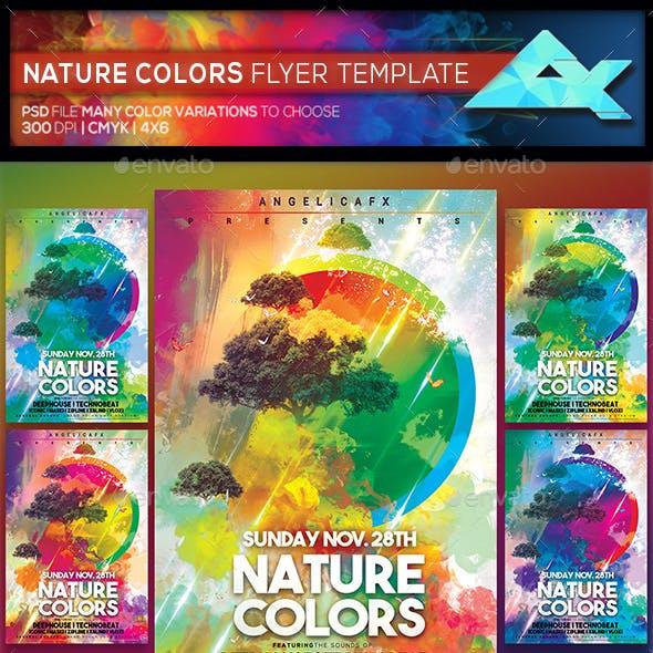Nature Colors Photoshop Flyer Template