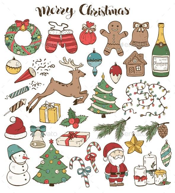 Christmas Doodles Collection by
