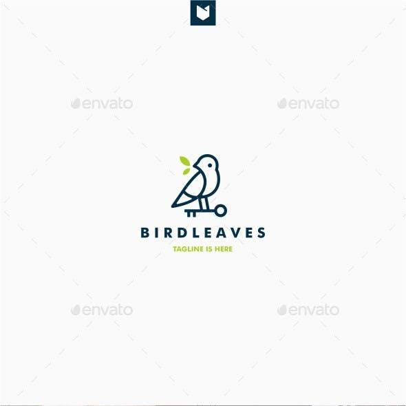 Key Bird Leaf Logo